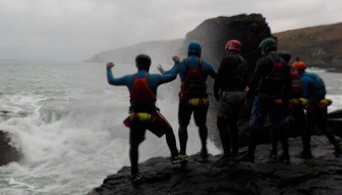 Coasteering on the Lizard, Cornwall